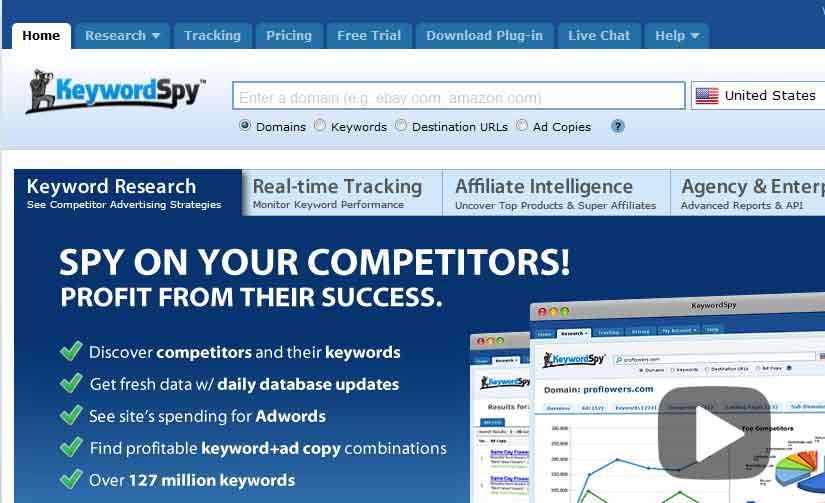Herramienta de palabra clave - keyword spy