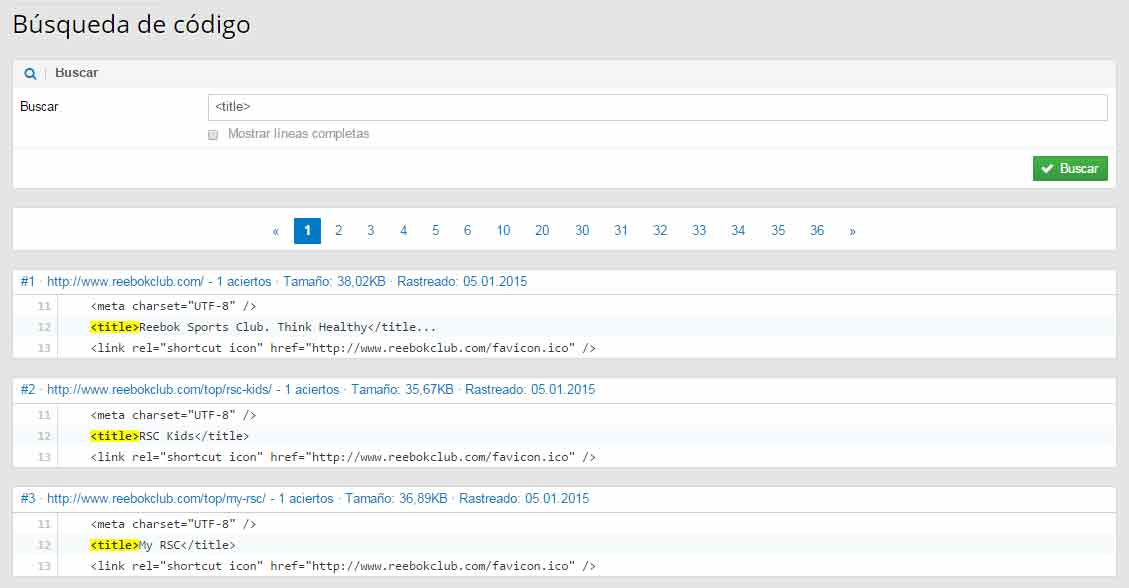 codigo html modulo optimizer sistrix