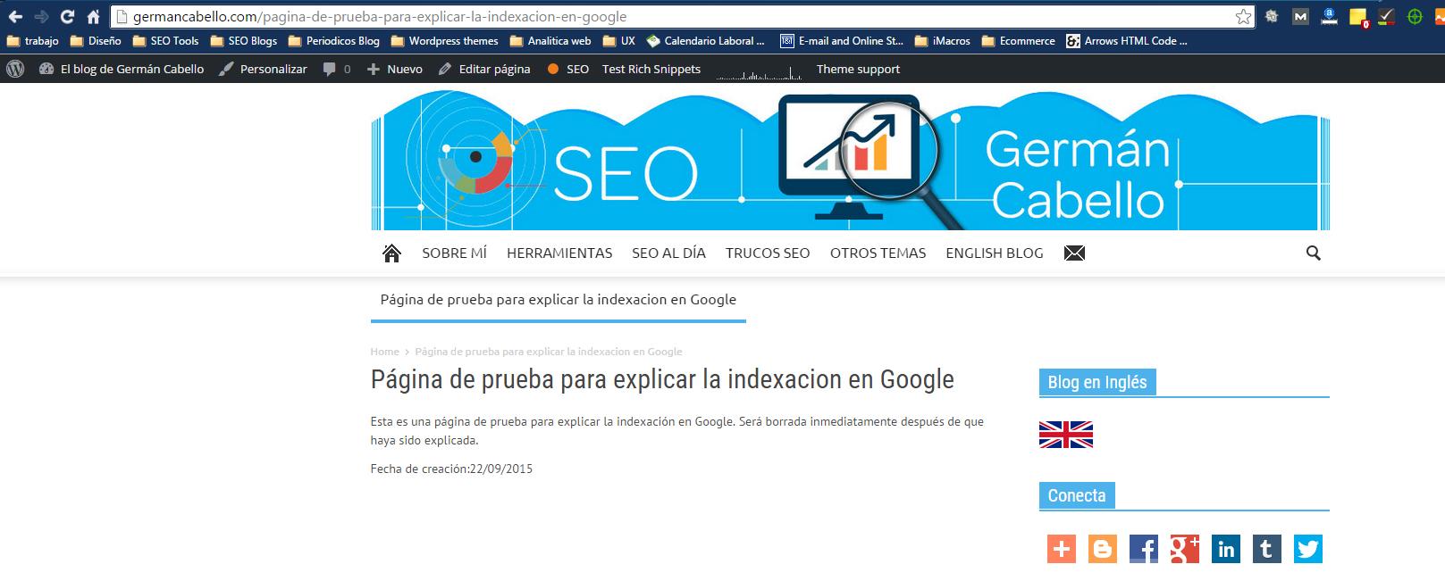 pagina real de indexacion en google