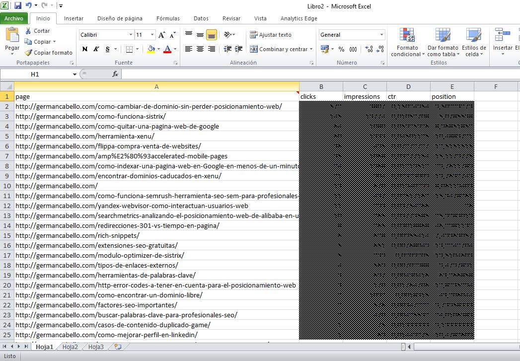 paginas de destino edge analytics