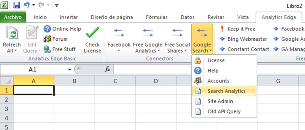 search analytics para descargar datos