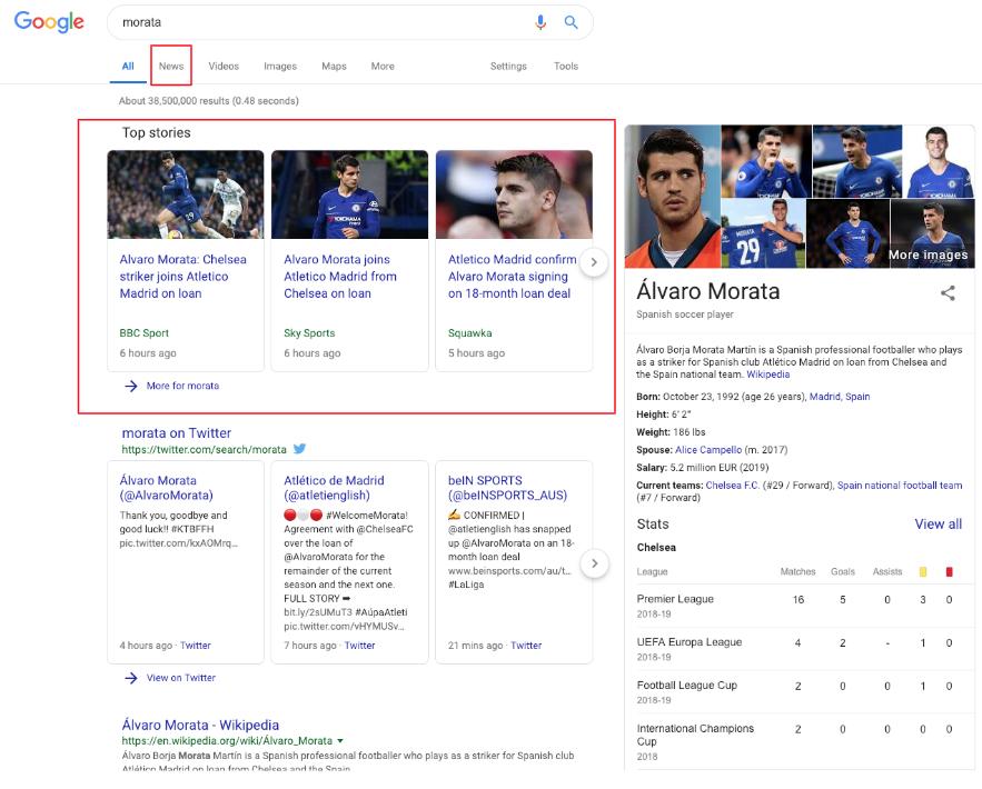 google noticias alvaro morata