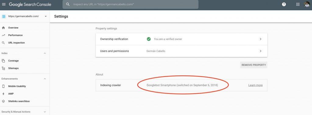 Googlebot de Google indexa mi web con Smartphone bot